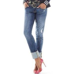 Cabi Distressed Slim Boyfriend Jeans in Mojave